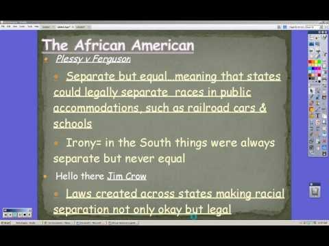 Gilded Age Lecture 4 African Americans