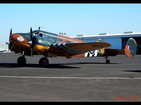 "Beech C-45 ""Bucket of Bolts"" Cockpit Video Full Flight (Beech 18) CAF Modesto Airport GoPro"