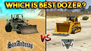 GTA 5 VS GTA SAN ANDREAS DOZER : WHICH IS BEST?