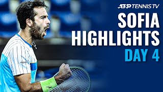 Caruso Knocks Out Auger-Aliassime; Gasquet Breezes Through | Sofia 2020 Highlights Day 4