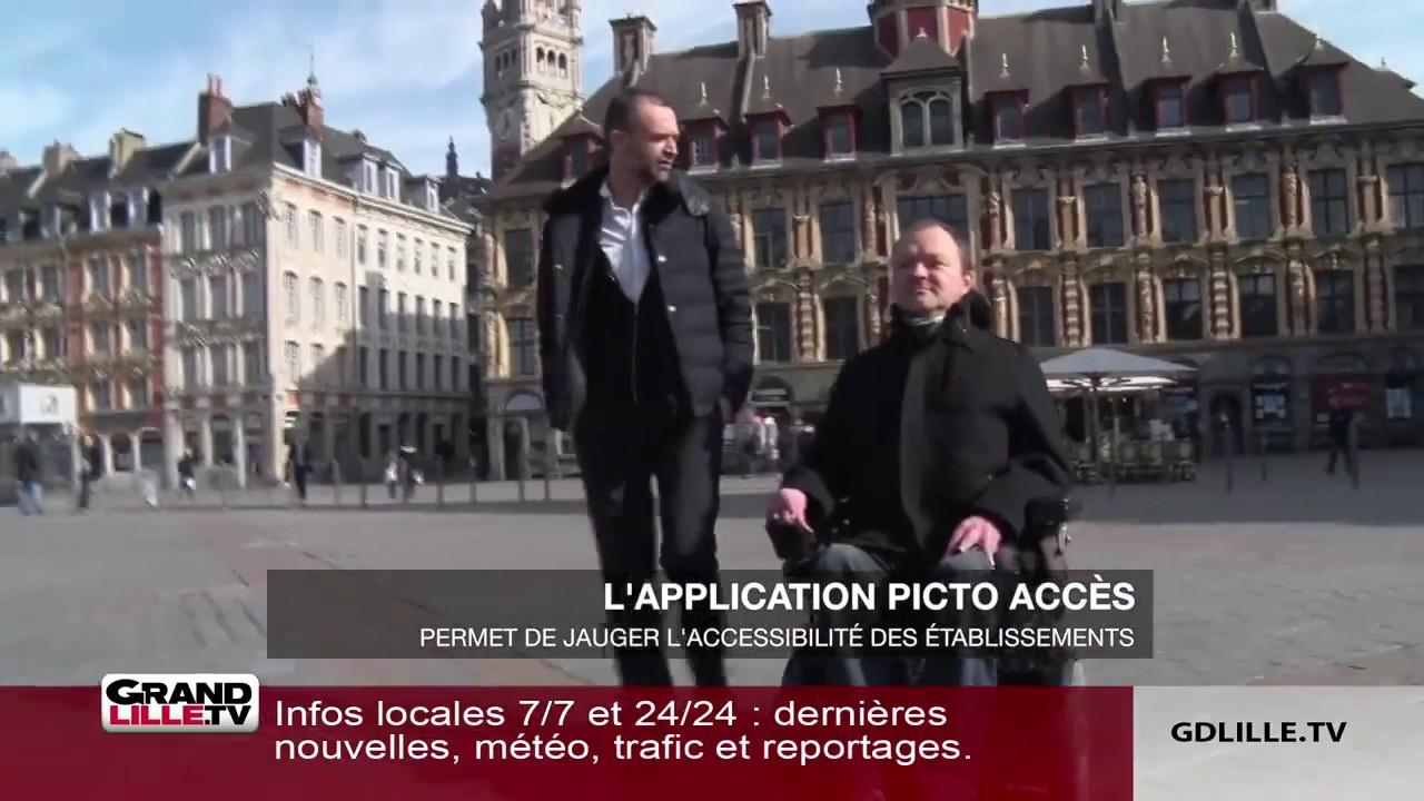 """Grand Lille TV : """"Picto Access, l'application qui améliore l'accessibilité des lieux pour tous"""""""