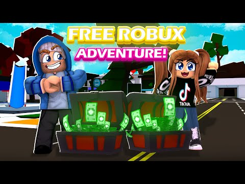 WE FOUND FREE ROBUX IN BROOKHAVEN (ROBLOX BROOKHAVEN RP) thumbnail