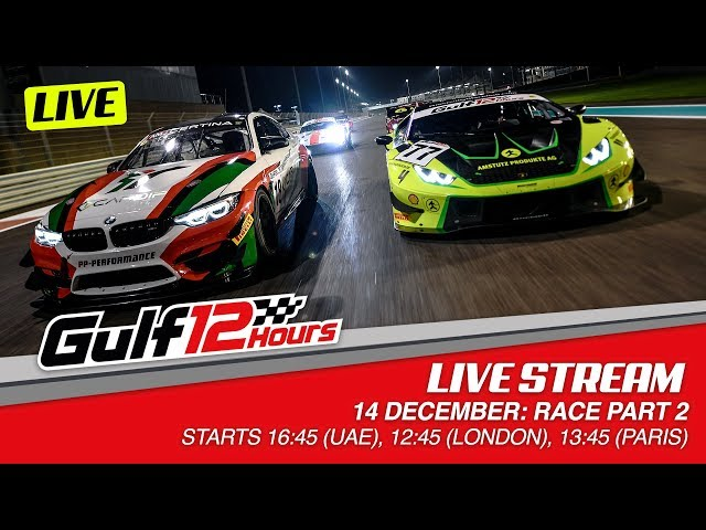 2019 Gulf 12 Hours - Live Streaming - Part 2