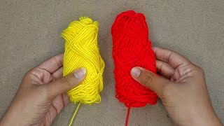 Amazing woolen flower ideas with fork   How to make woolen flower step by step