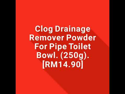 Clog Drainage Remover Powder For Pipe Toilet Bowl. (250g)