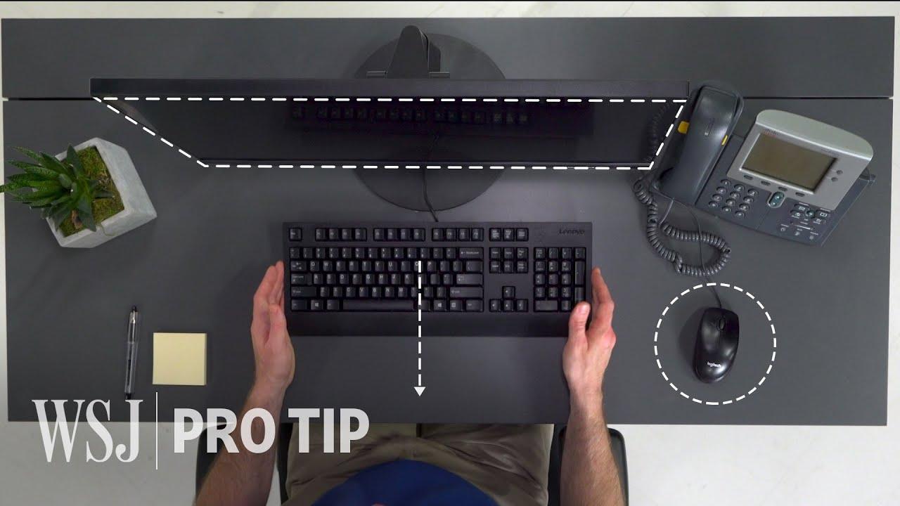 - Ergonomics Expert Explains How To Set Up Your Desk WSJ - YouTube