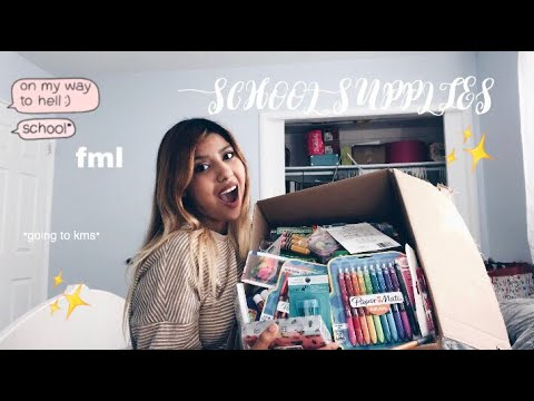 BACK TO SCHOOL SUPPLIES HAUL 2018 *super extra*