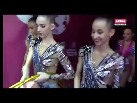 ЧМ 2019  Баку  Узбекистан  Многоборье  3 обруча и 2 пары булав