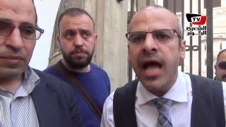 مظاهرة موظفي «المصرية للاتصالات»:«في فساد ..والشركة بتقع»