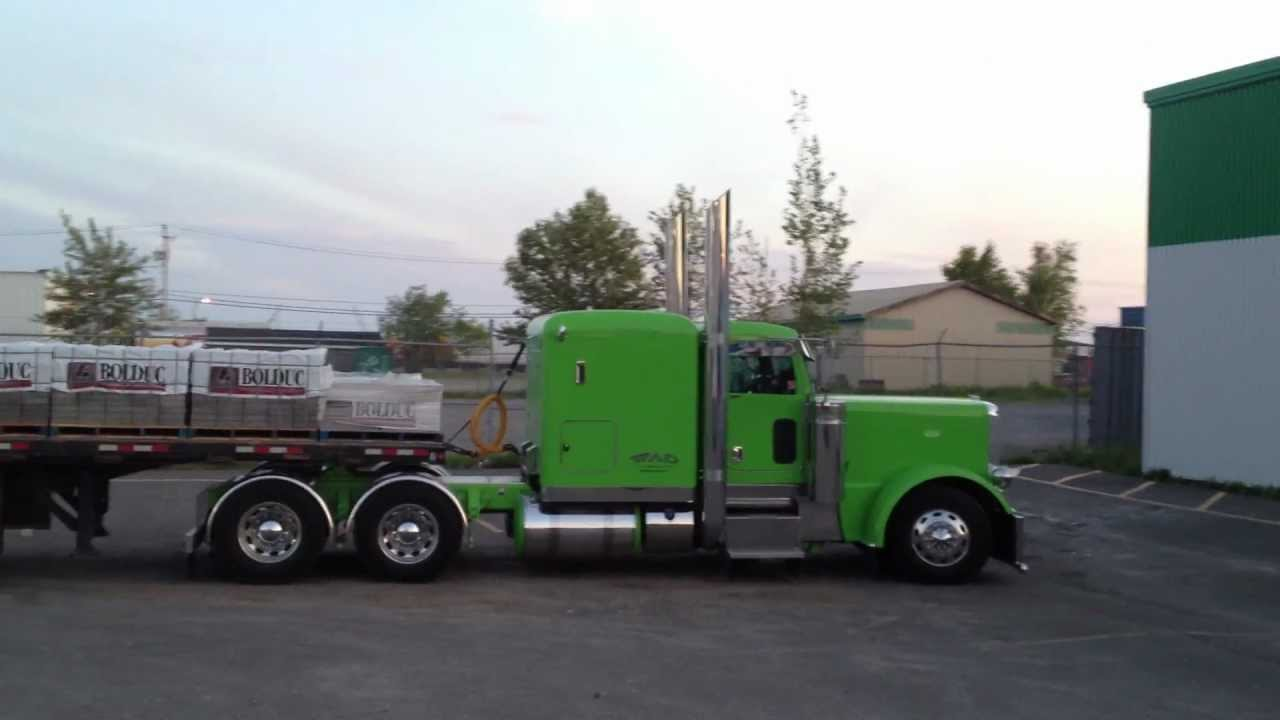 Trucks Painted With Black And Lime Green