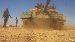 Танки сирийской армии разносят на куски баррикады боевиков ИГИЛ видео боев