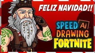 Merry Christmas!!! General Winter - Speed Drawing- Fanart Fortnite season 7