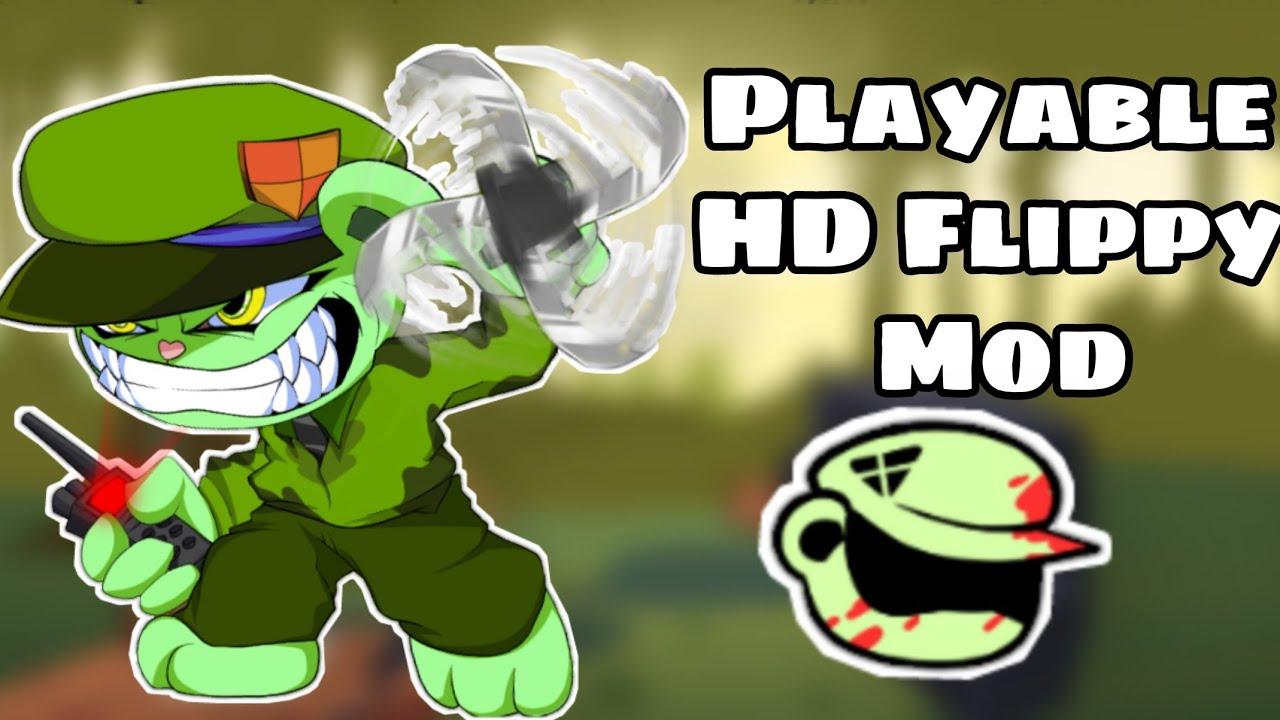 Playable HD Flippy mod | FNF mod showcase