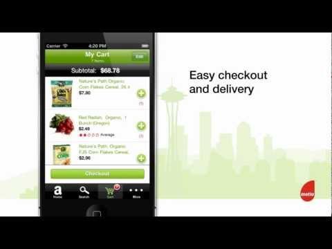 Metia presents AmazonFresh for iPhone