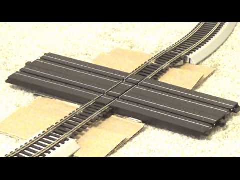 HO Bachmann train with HO Slot Car – RR Crossing INTERSECTON
