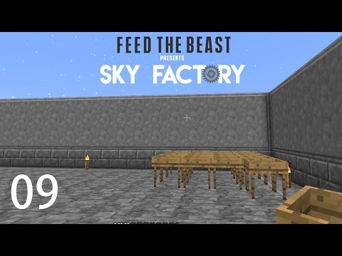 Sky Factory 3 w/ xB - SIFTING AND SMELTING ROOMS [E09] (Minecraft Modded Sky Block)