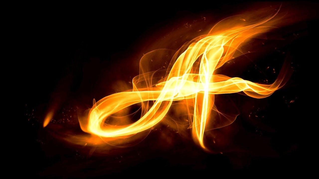 Как фотошопе сделать огненные буквы в