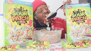 SOUR PATCH KIDS CEREAL TASTE-TEST!
