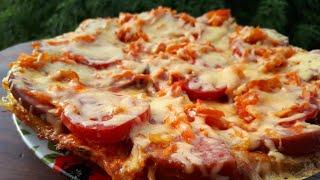 ПИЦЦА НА СКОВОРОДЕ. БЫСТРЫЙ рецепт пиццы за 10 минут. Простые рецепты.