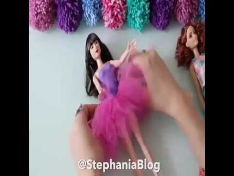 Creative ideas! How to Make Barbie Doll Clothes