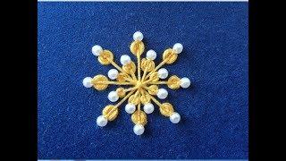 Hand embroideru :hand embroidery design, Kashmiri Ball Stitch