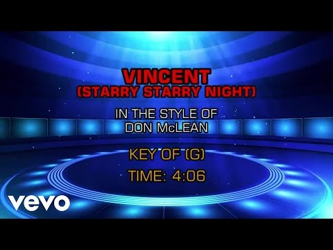 Don McLean - Vincent (Starry Starry Night) (Karaoke)
