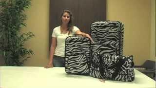Rockland Fashion Expandable 3-Piece Luggage Set