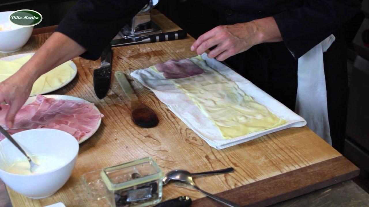 nudelschnecken pasta rosette nudeln selber machen kochvideos rezepte villa martha kochschule. Black Bedroom Furniture Sets. Home Design Ideas