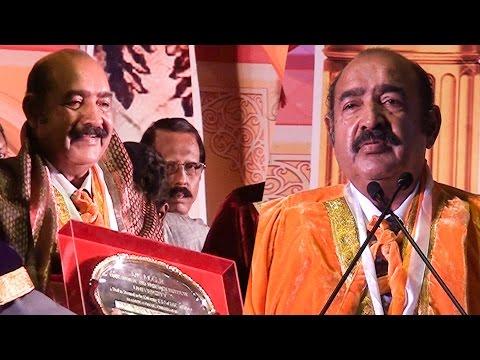 Actor Vijaykumar Conferred Doctorate By Dr. MGR University