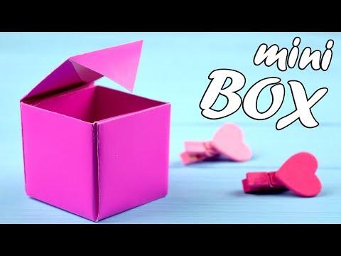 Как делаются коробочки из бумаги