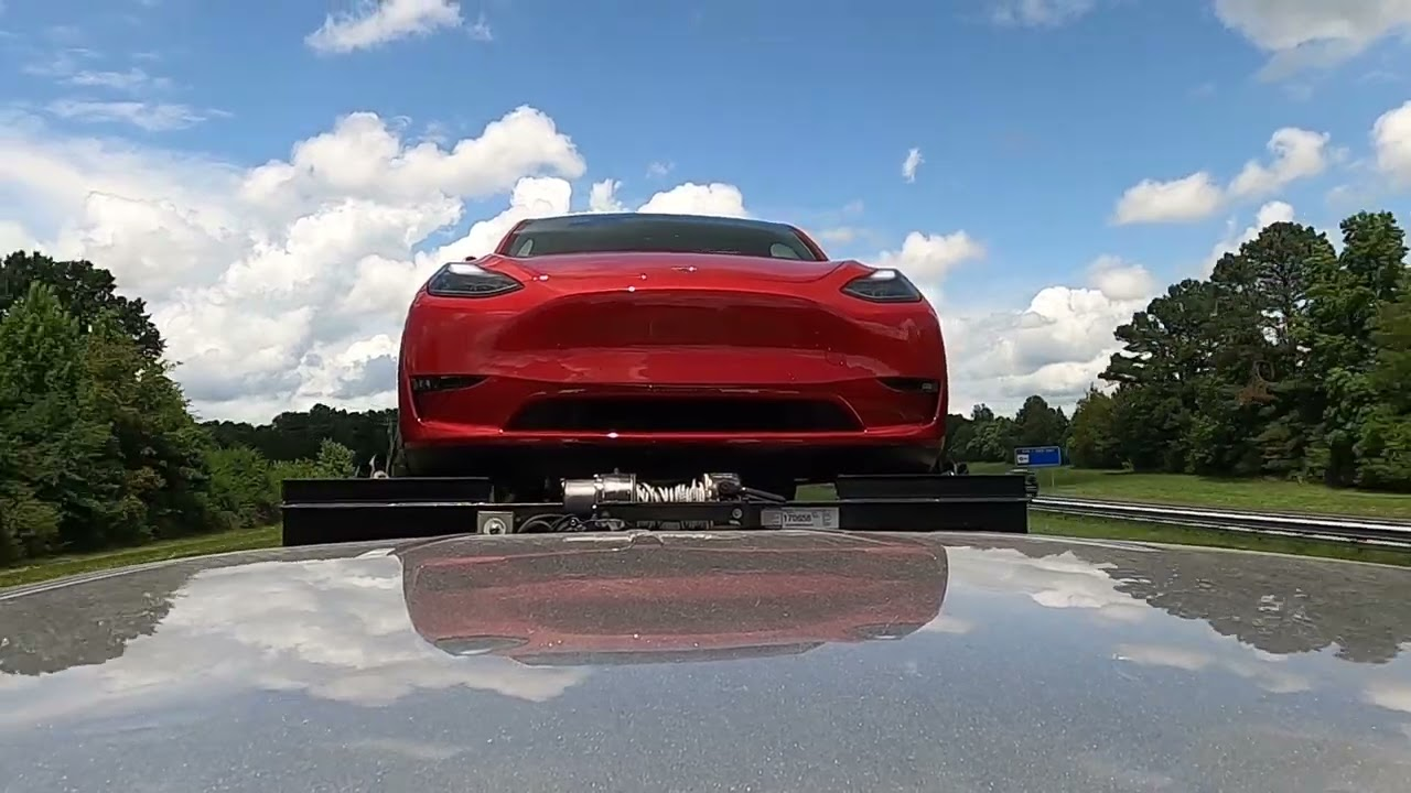 How much does a Tesla move during transport?