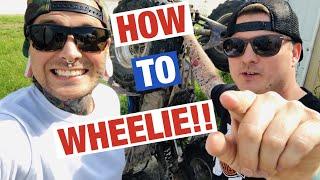 HOW TO WHEELIE!!! WITH Tyler Nolan | Cole Freeman