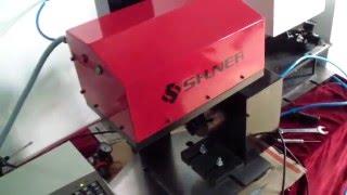 china shuner pneumatic desktop dot peen pin marking machine with rotary for pipe round part