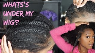WHAT'S UNDER MY WIG? | TAKING OUT 2 MONTH OLD BRAIDS + HOW TO
