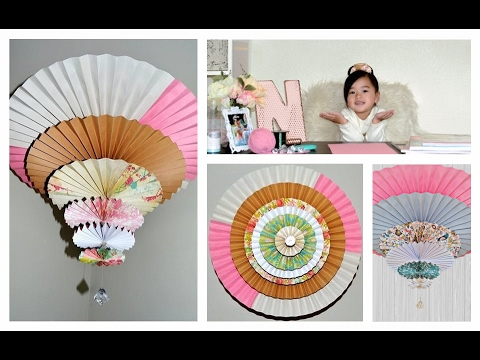 How to make Medallion Spinning Fan/Chandelier ( Tutorial )