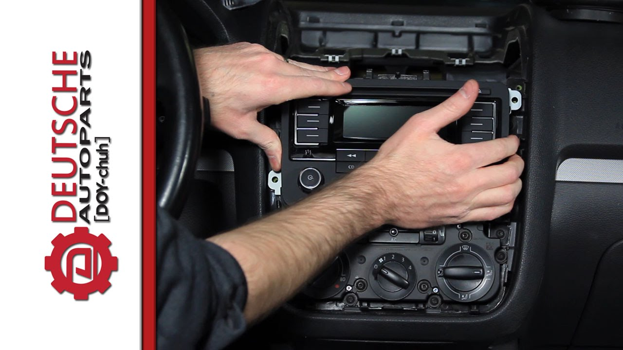 how to install an oem vw rmt300 bluetooth radio on a mk5 jetta youtube [ 1280 x 720 Pixel ]