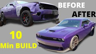 Rebuilding a Salvage Dodge Hellcat in 10 Minutes
