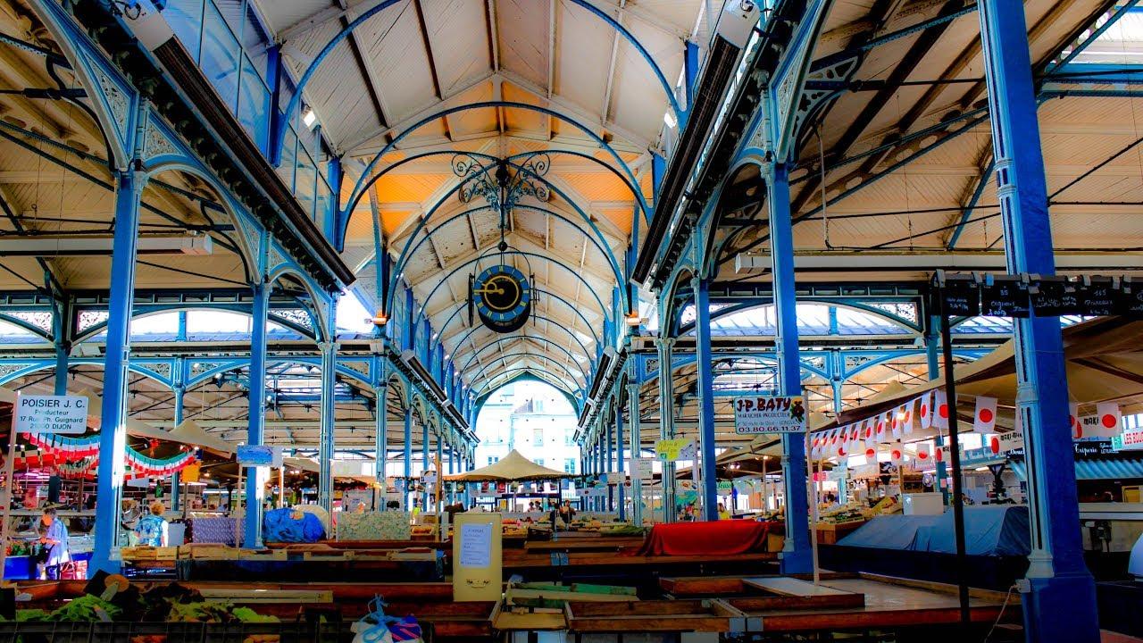A Walk Around Les Halles (Market) of Dijon - YouTube