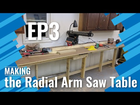 Making The Radial Arm Saw Table
