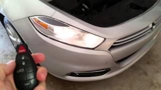 2013 Dodge Dart - Testing Key Fob After Changing Battery - Parking Lights Flashing