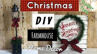 DOLLAR TREE DIY |Farmhouse Christmas Decor