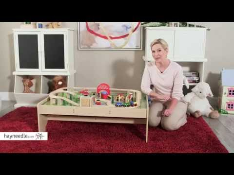 Bigjigs Toys Train Table Set - Product Review Video - YouTube