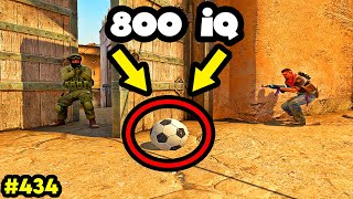 800 IQ BALL BAIT TRICKS! - CS:GO BEST ODDSHOTS #434