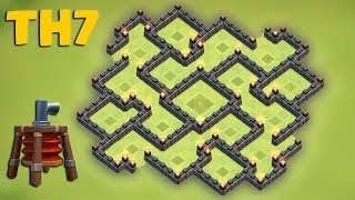 Clash Of Clans | Town Hall 7 Trophy Base | Speed Build 2015