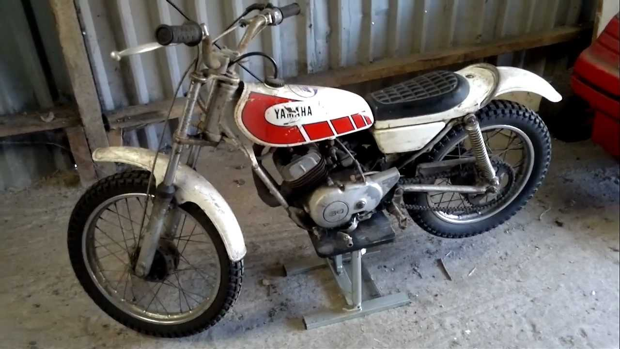 yamaha ty80 walk around and start up 80cc boys trial