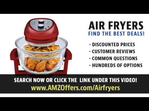 Avalon Bay AirFryer with Rapid Air Circulation Technology Large 3.2 Quart Capacity Temperature up