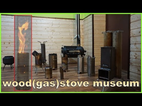 all my stoves in a wood(gas)stove - museum