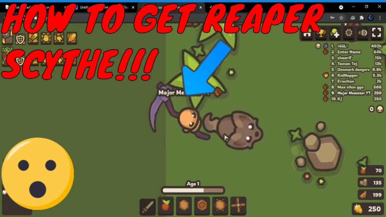 Download HOW TO GET THE REAPER SCYTHE IN Taming.io