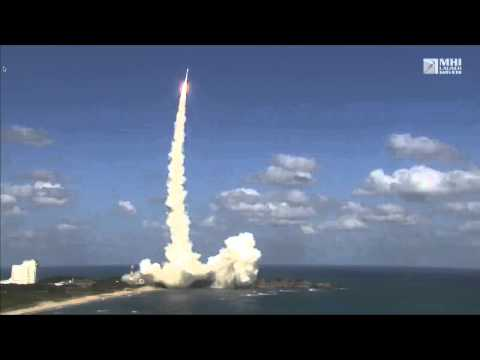 Launch of Japanese weather sat Himawari-8 on the H2A-F25 rocket