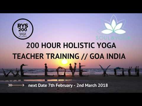 200 Hour Holistic Yoga Teacher Training in Goa, India